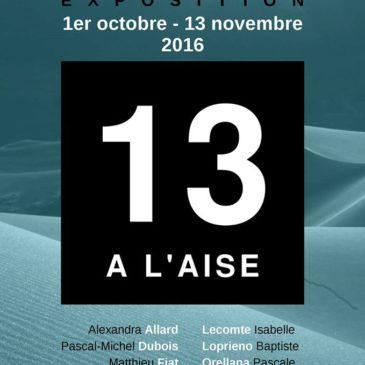 «13 à l'aise», une exposition collective à la TEC à Voiron (38) – 1er/10 au 13/11